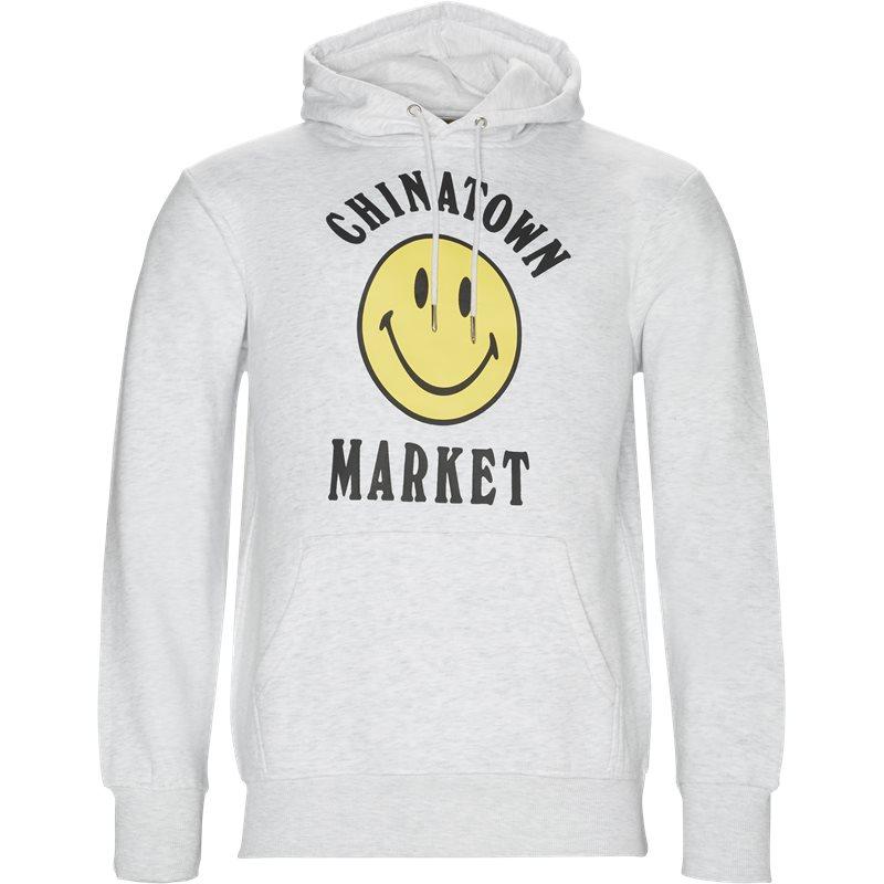 chinatown market – Chinatown market logo hoodie grey melange fra quint.dk